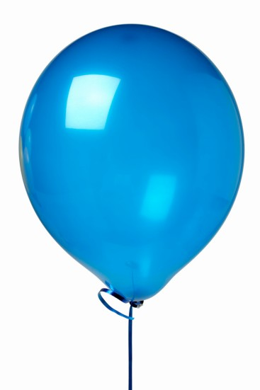 Close up of a blue balloon